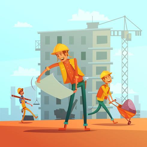 Bau- und Bauwirtschaftsillustration vektor