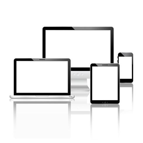 Inställda mobila enheter vektor