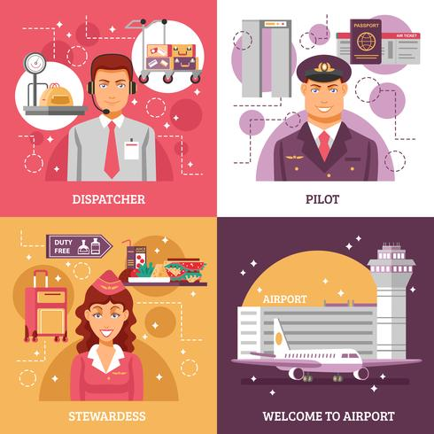 Flughafen-Design-Konzept vektor