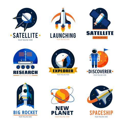 Space Logo Emblem Set vektor