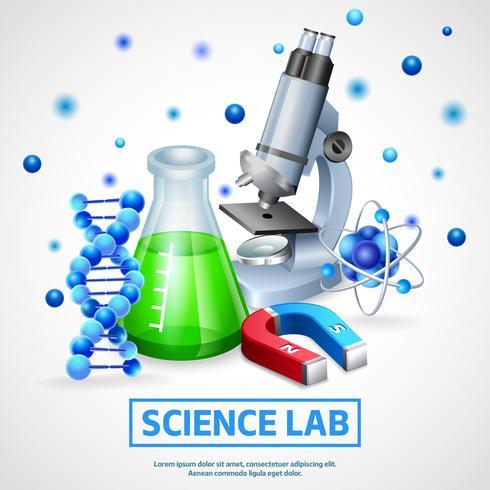 Vetenskapligt laboratoriumdesignkoncept vektor