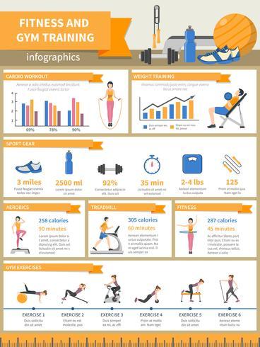 Fitness och Gym Training Infographics vektor