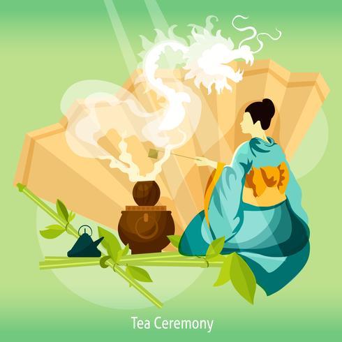 Teezeremonie Hintergrund vektor