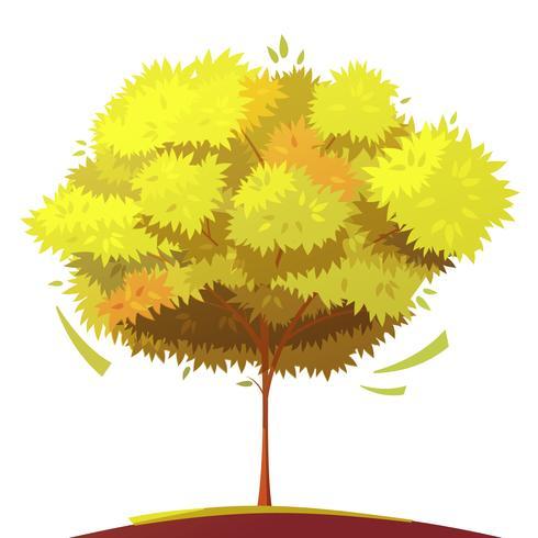 Träd isolerad tecknad illustration vektor