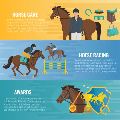 Häst Sport Banderoller vektor