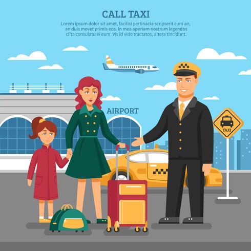 taxi service illustration vektor