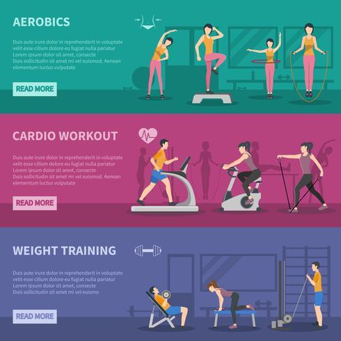 Fitness-Studio Training Banner vektor
