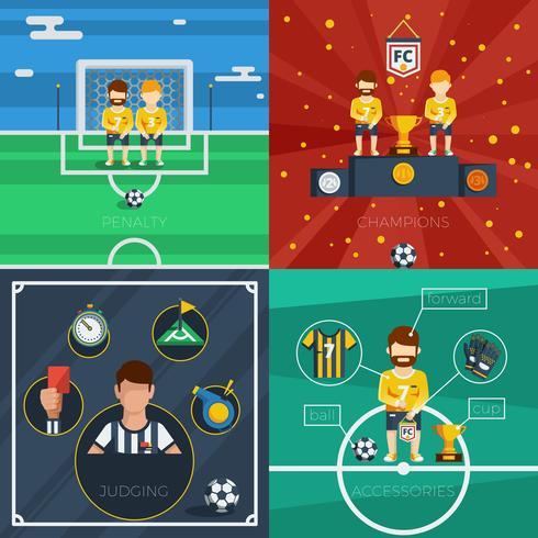 Sammansättning av fotbollsplattformar vektor