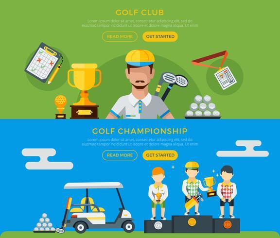 Golfklubb och mästerskapsbannor vektor