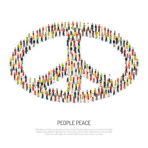 Folk fredsaffisch vektor