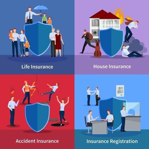 Personlig och fastighetsförsäkring vektor