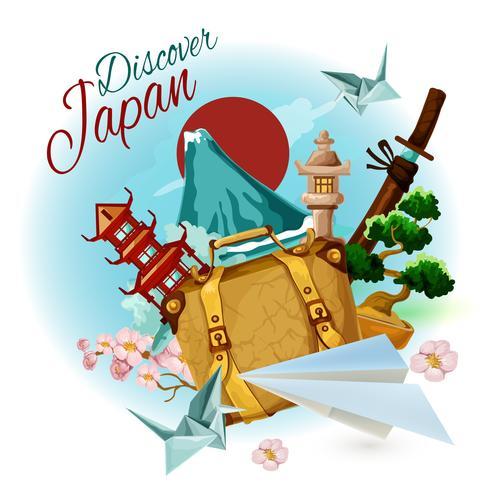 Upptäck Japan Poster vektor