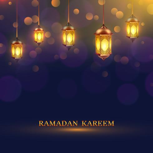Ramadan beleuchtet Poster vektor