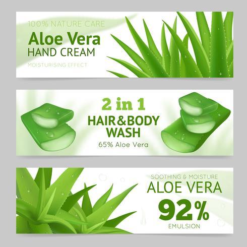 Horisontella Aloe Vera Banderoller vektor