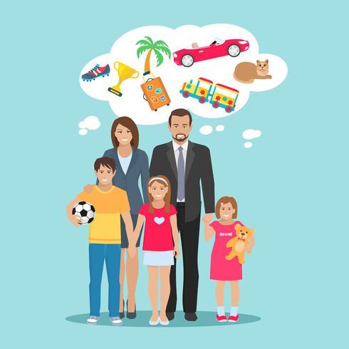 Familj Dreams Illustration vektor