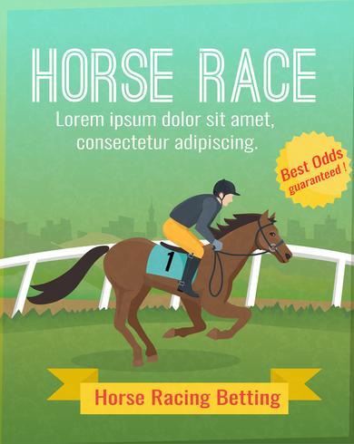 Hästkapplöpningaffisch vektor