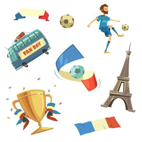Euro 2016 Fußball gesetzt vektor