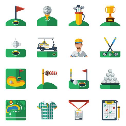 Golf Icons Set vektor