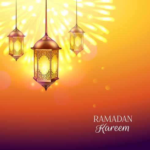 Ramadan farbige Abbildung vektor
