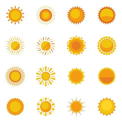 Sun-Ikonen-Sammlung vektor