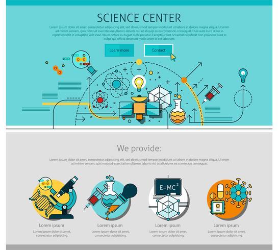 Science Center Line Seite Illustration vektor