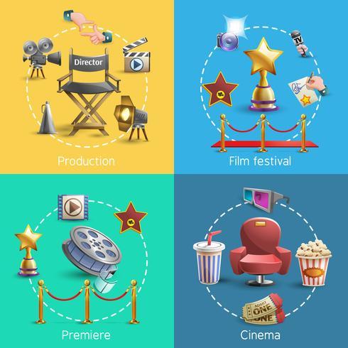 Cinema koncept set vektor