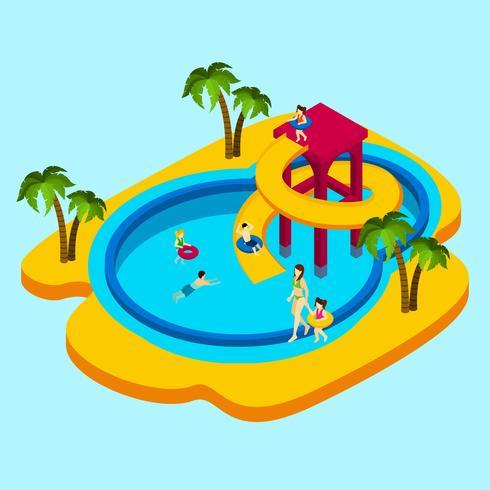 Vattenpark Illustration vektor