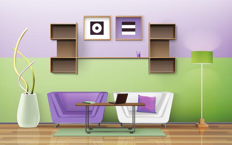 Wohnzimmer Design vektor