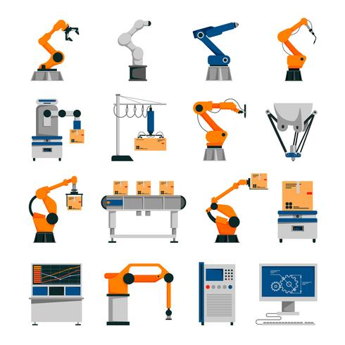 Automatisierung Icons Set vektor
