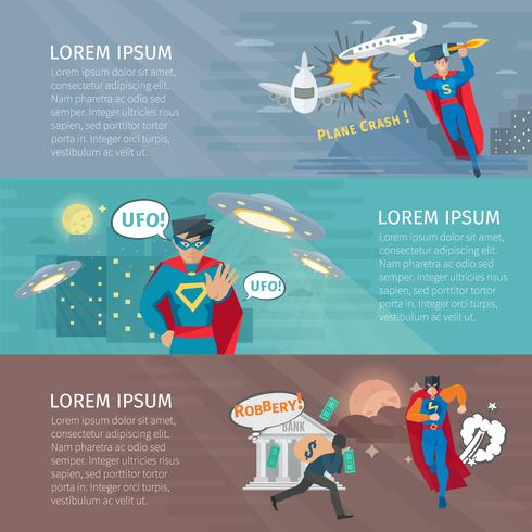 Superhero Banners Set vektor