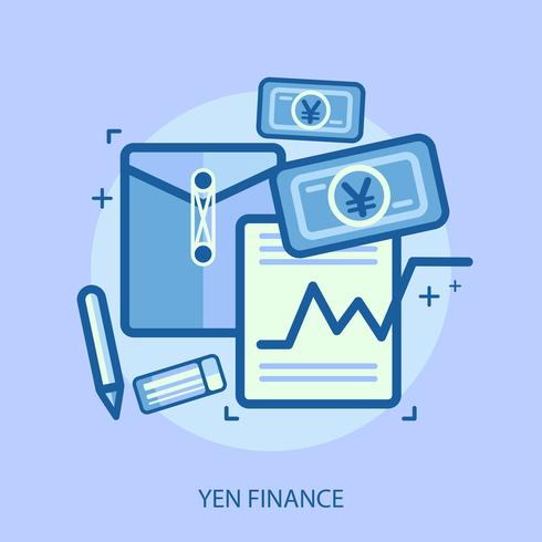 Yen Finans Konceptuell illustration Design vektor