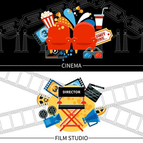 Cinema Banners Set vektor