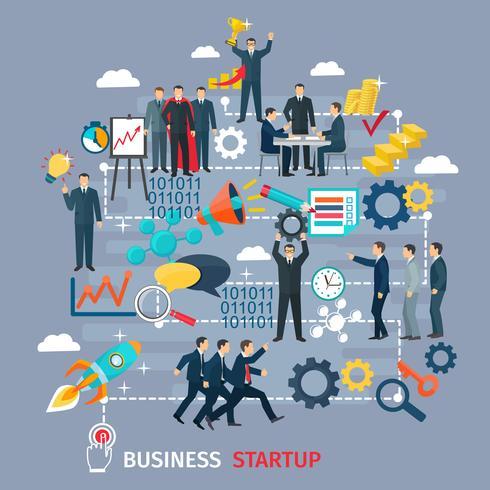 Business Startup Konzept Abbildung vektor