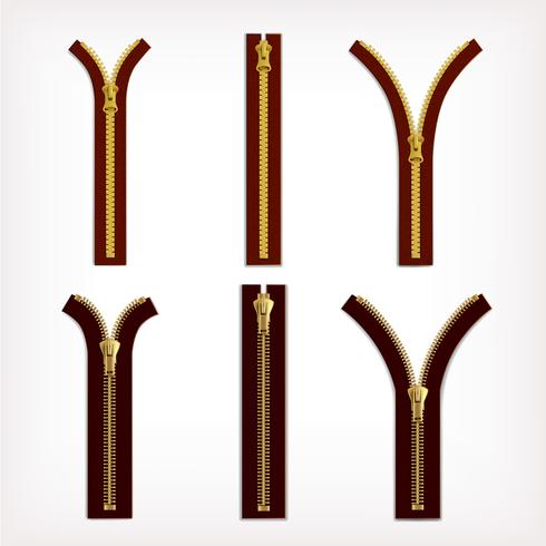 Zipper Gul Set vektor