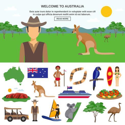 Australien Travel Concept vektor