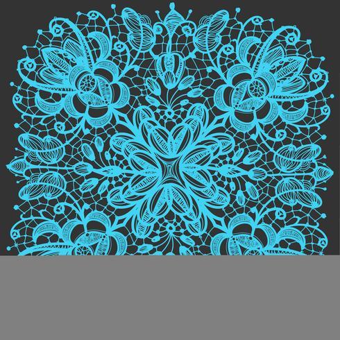 Lace doily patterns.With element abstrakta blommor. Kan användas för design och dekoration. vektor