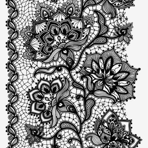 Abstraktes Spitze-Band-vertikales nahtloses Muster. vektor