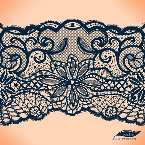Mallram design. Lace Doily. vektor