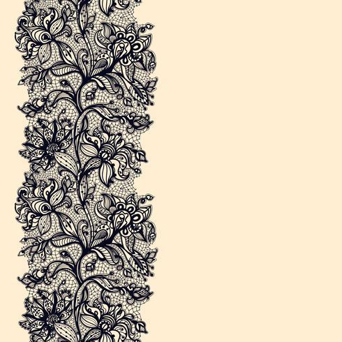 Abstraktes Spitze-Band-nahtloses Muster. vektor
