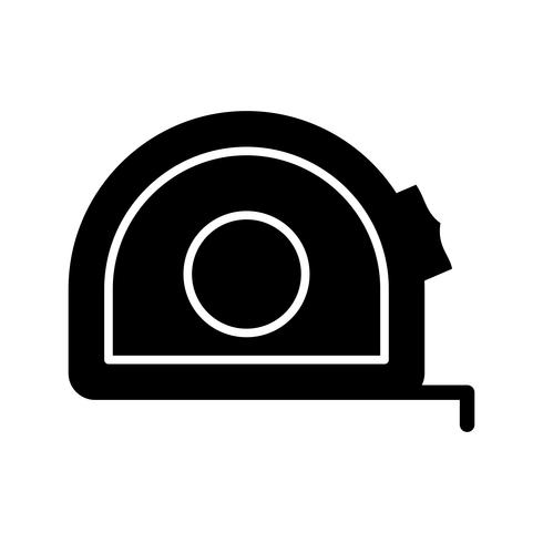 Maßband Glyphe Schwarze Ikone vektor