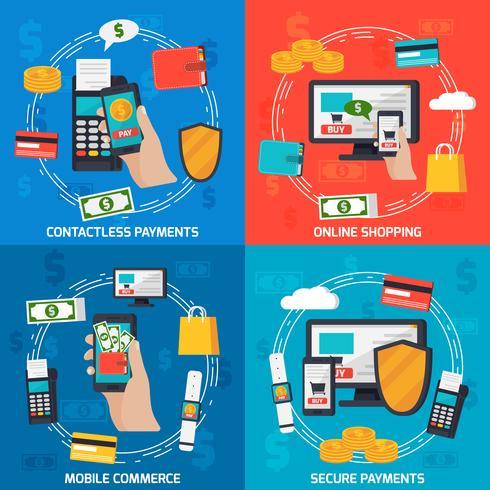 Moblie Payments Design-Konzept vektor