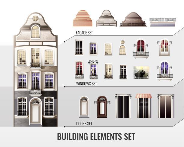 europeiska byggnadselement vektor