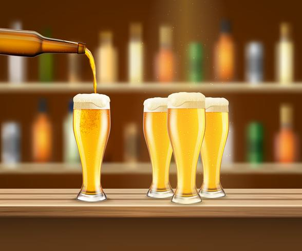 Realistische Bier-Illustration vektor