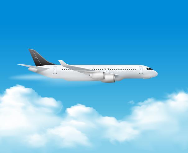 Flugzeug über der Spitzenzusammensetzung vektor