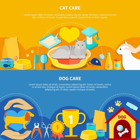 pet care banners vektor