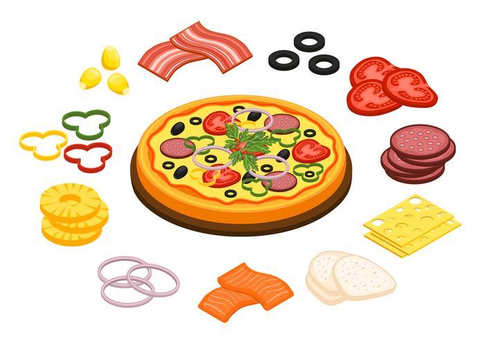 Pizza-Konzept kochen vektor