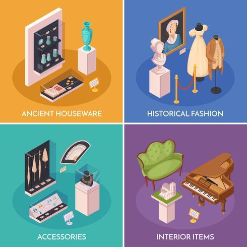 Museumsausstellung 2x2 Design Concept vektor