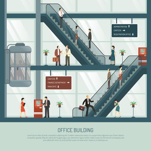 Kontorsbyggnadskomposition vektor