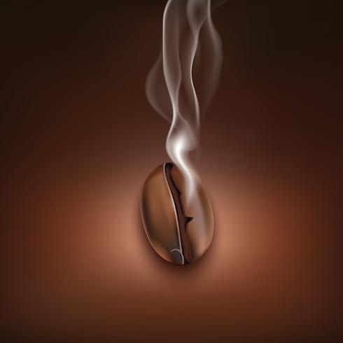 Kaffeböna rök bakgrundsaffisch vektor