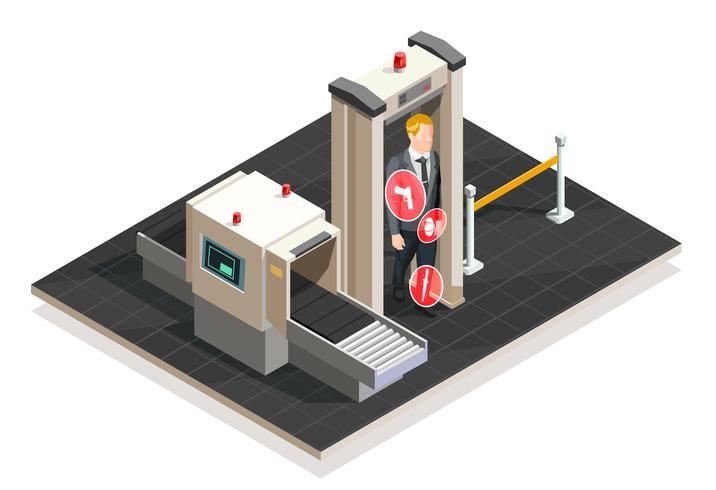 Flygplats isometrisk illustration vektor